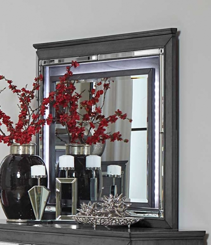 Homelegance Allura Mirror with LED Lighting - Gray