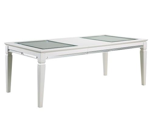 Allura Dining Table - White Metallic