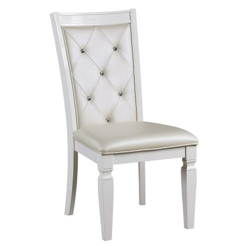 Allura Side Chair - White Metallic
