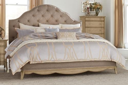Ashden Upholstered Bed - Driftwood