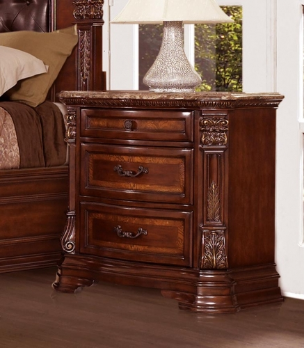 Homelegance Antoinetta Night Stand - Warm Cherry
