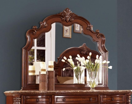 Homelegance Antoinetta Mirror - Warm Cherry