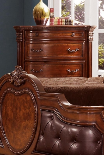 Homelegance Antoinetta Chest - Warm Cherry