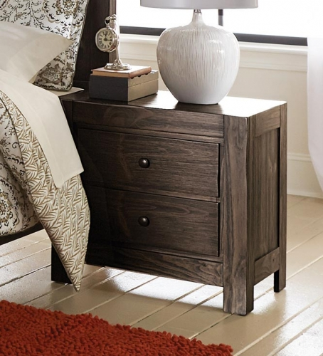Farrin Night Stand - Dark Rustic Pine