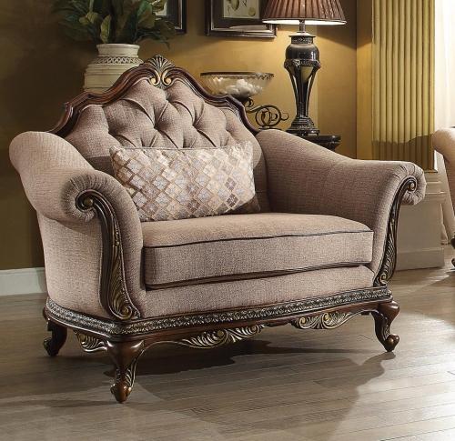 Bonaventure Park Chair - Chenille - Brown