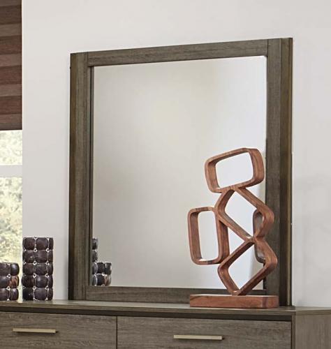 Homelegance Vestavia Mirror - Grey/Dark Brown