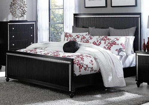 Sakura Panel Bed - Black
