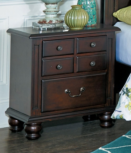 Frederica Night Stand - Burnished Cherry