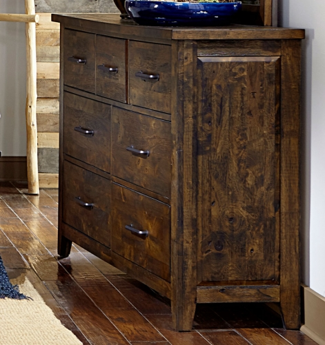 Jerrick Dresser - Rustic Burnished Wood