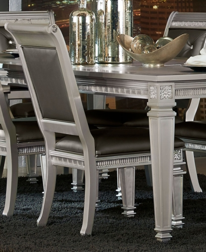 Bevelle Side Chair - Silver