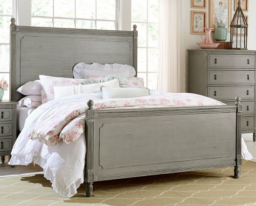 Aviana Bed - Antique Gray