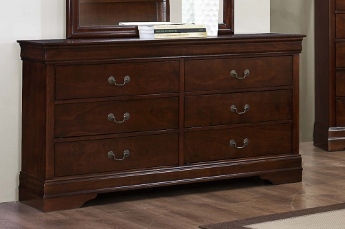 Mayville Dresser - Burnished Brown Cherry