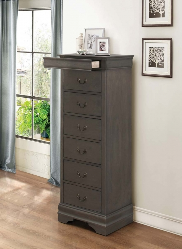Mayville Lingerie Chest - Hidden Drawer - Stained Grey