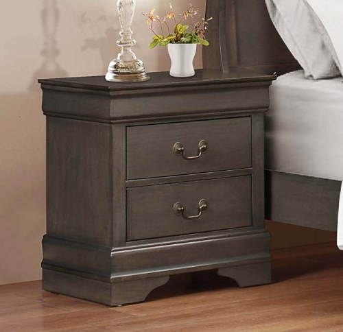 Mayville Night Stand - Stained Grey