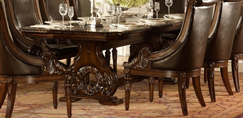 Orleans Trestle Dining Table - Cherry