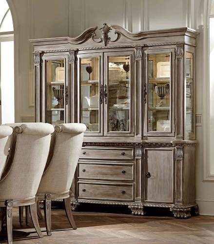 Orleans II China Cabinet - White Wash