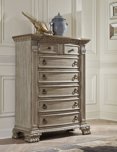 Orleans II Chest - White Wash