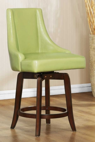 Annabelle Swivel Counter Height Chair - Green