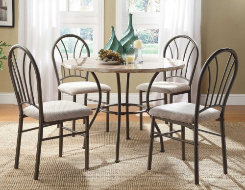 Shawnee 5-Piece Pack Dinette Set - Cream