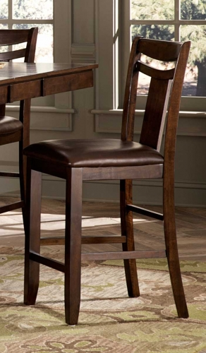 Broome Counter Height Chair - Dark Brown - Brown Bi-cast Vinyl