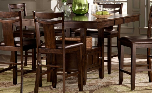 Broome Counter Height Table - Dark Brown