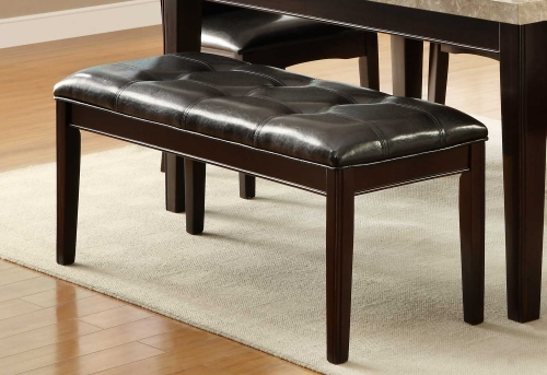 Hahn Bench - Dark Brown - Dark Brown Bi-Cast Vinyl