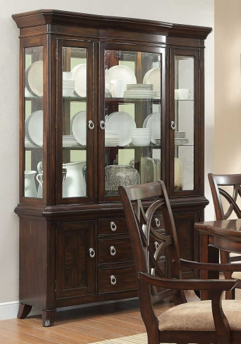 Keegan China Cabinet - Cherry