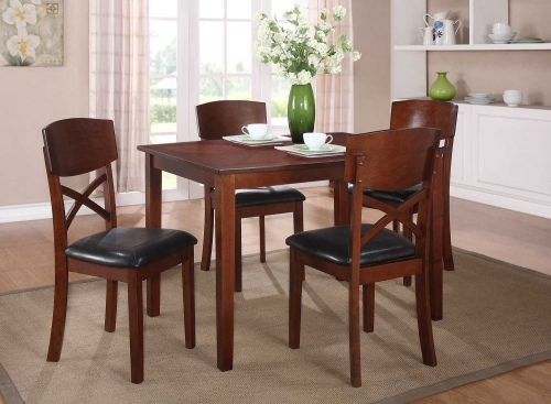 Jonas 5PC Dinette Set - Cherry