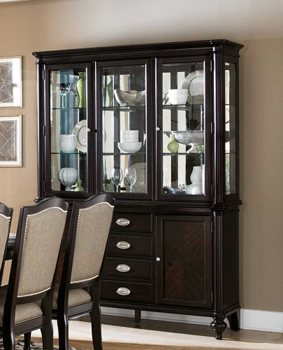 Marston China Cabinet - Dark Cherry