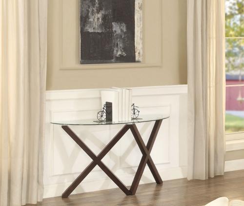 Halston Sofa Table with Glass Top