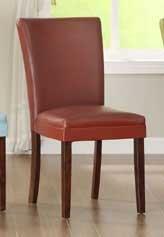 Homelegance Belvedere Side Chair - Lava Red