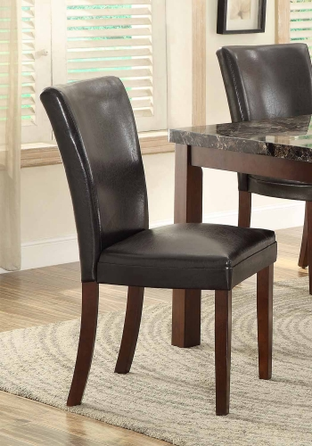 Belvedere II Side Chair - Dark Brown Bi-Cast Vinyl