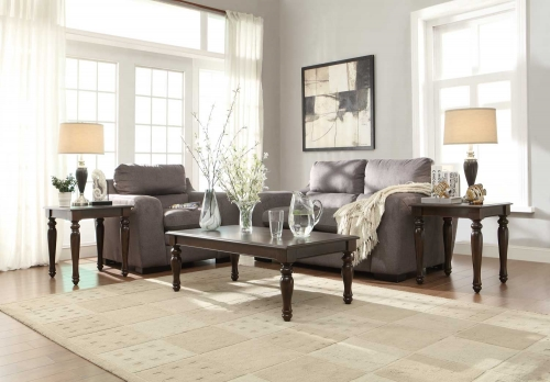 Hebron 3-Piece Occasional Tables - Rich Brown Cherry