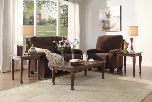Galligan 3-Piece Occasional Tables - Warm Brown Cherry