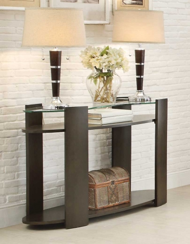 Sicily Sofa Table with Glass Top
