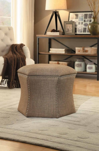 Kennelly 2-Piece Storage Ottoman Set - Brown