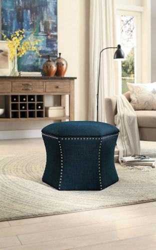 Kennelly 2-Piece Storage Ottoman Set - Blue