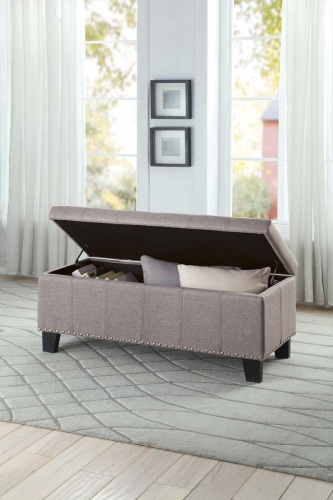 Fedora Lift Top Storage Bench - Grey