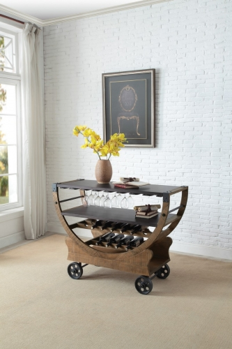 Amara Kitchen Cart with Functional Wheels