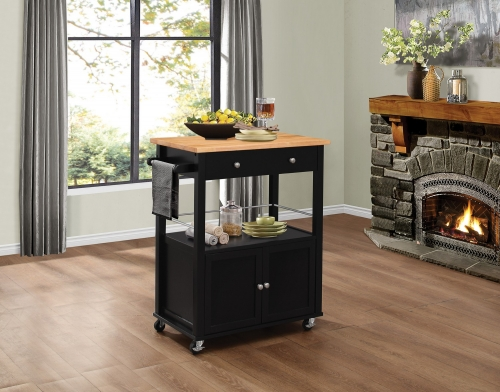 Denham Kitchen Cart with Casters