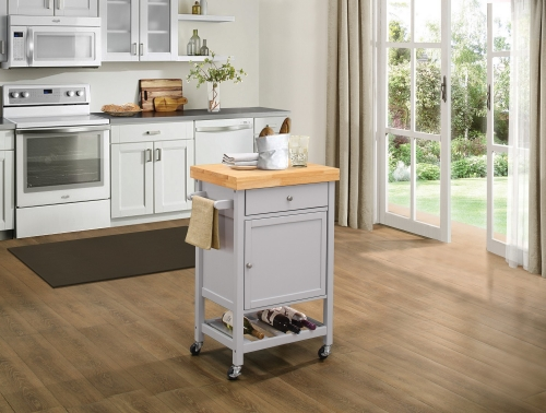 Zinnia Kitchen Cart with Casters