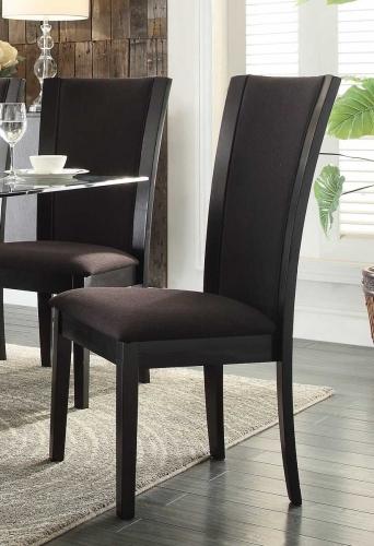 Havre Side Chair - Dark Brown Fabric