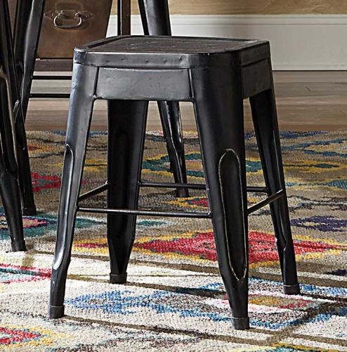 Amara 18in Metal Stools - Black