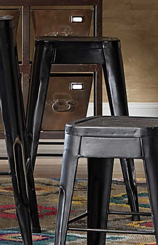 Amara 24in Metal Counter Stool - Black