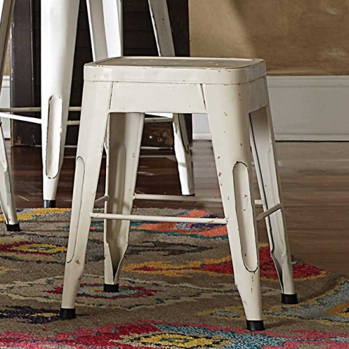 Amara 18in Metal Stools - White