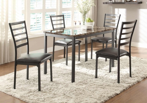 Flannery Dining Set - Black Metal
