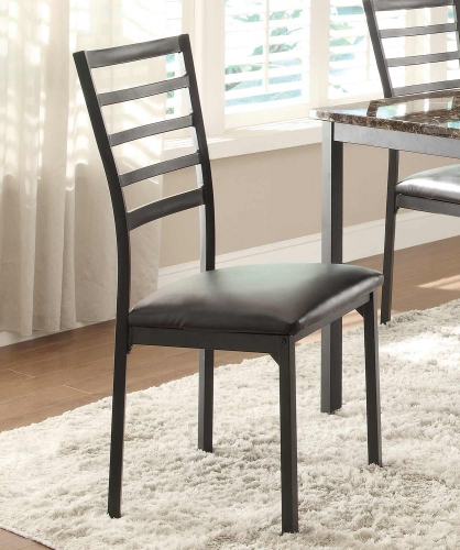 Flannery Side Chair - Black Metal