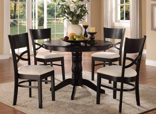 Clancy 5-Piece Pack Dinette Set - Warm Black