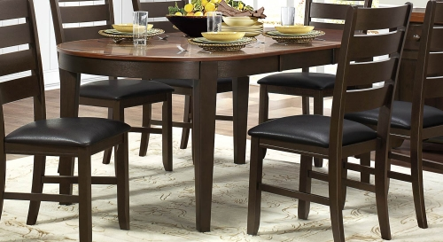 Grunwald Dining Table - Dark Brown