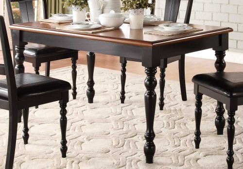 Laurel Grove Dining Table - Black/Cherry